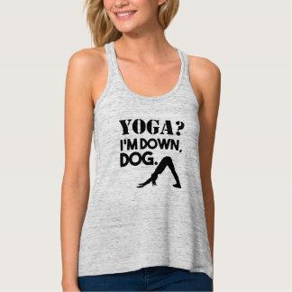 Funny Down Dog Yoga tank top