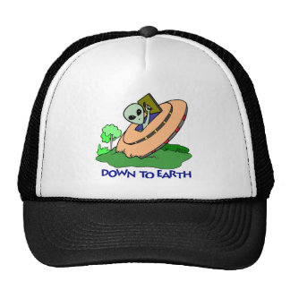 Funny Down To Earth Alien T-shirts Gifts Mesh Hat