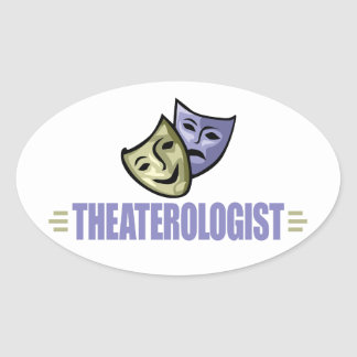 Funny Drama Theater Oval Sticker