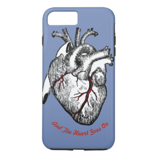 Funny Drawing of a Heart with quote iPhone 8 Plus/7 Plus Case