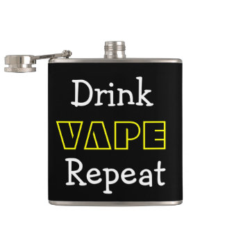 Funny Drink Vape Repeat Hip Flask