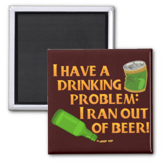 Funny Drinking Beer Magnet