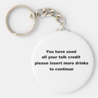funny drinking slogan keychain