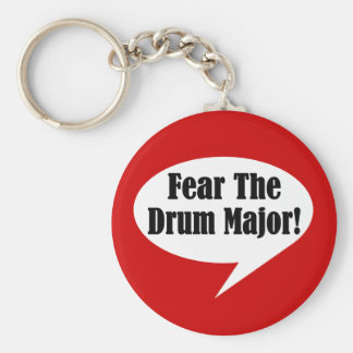 Funny Drum Major Keychain