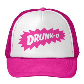 Funny 'DRUNK-O' Mesh Truckers Hat (pink)