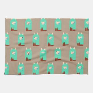 Funny Drunken Llama Emoji Kitchen Towel