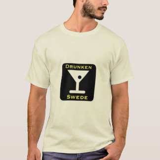Funny Drunken Swede Scandinavian Drinking T-Shirt