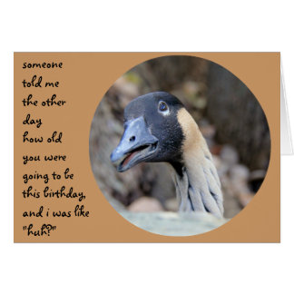 Funny Duck Birthday card, Over the Hill Card