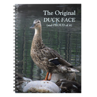 Funny Duck Face Notebook