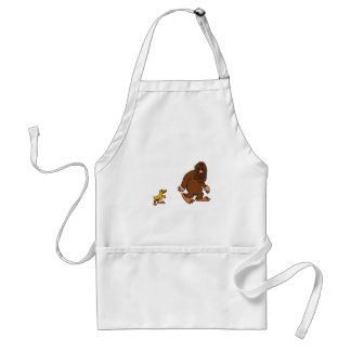 Funny Duck Following Bigfoot Cartoon Standard Apron