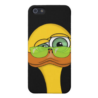 Funny Duck with Sunglasses Picture Cover For iPhone 5/5S