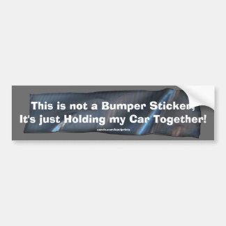 Funny Duct Tape Bumper Sticker for your Car