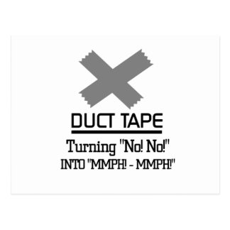 Funny Duct Tape Design Postcard