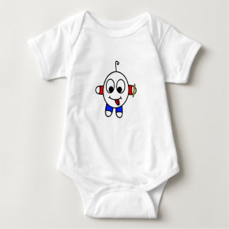 funny dude drawing baby bodysuit