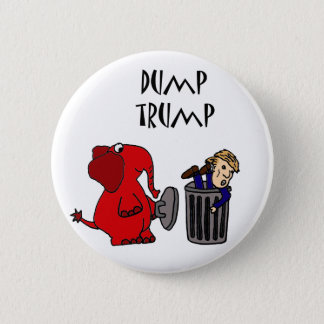 Funny Dump Trump Political Cartoon Art 2 Inch Round Button