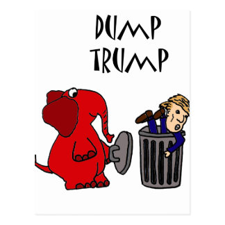 Funny Dump Trump Political Cartoon Art Postcard