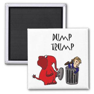 Funny Dump Trump Political Cartoon Magnet