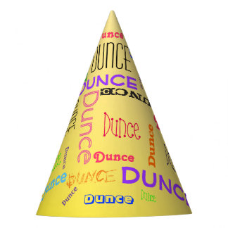 Funny Dunce Cap Word Cloud Collage Party Hat