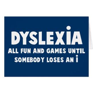 Funny dyslexia card