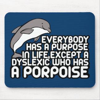Funny dyslexic joke mouse pad