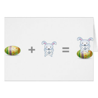 Funny Easter Bunny Rabbit Art Greeting Card