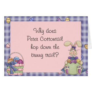 Easter bunny joke gifts easter bunny joke gift ideas on zazzle funny easter card negle Image collections