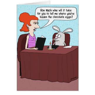 Funny Easter Card: Bunny Interrogation Card