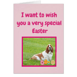 """Funny Easter Cards w/Basset Hound in """"Bunny Suit"""""""