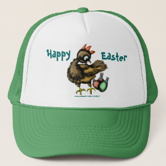 Funny Easter chicken and bunnies hat