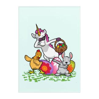 Funny Easter Dab Bunny Dabbing Unicorn Rabbit Acrylic Print