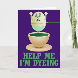 Easter egg puns gifts on zazzle ca funny easter egg dyeing christmas card negle Image collections
