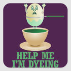 Funny Easter Egg Dyeing Square Sticker