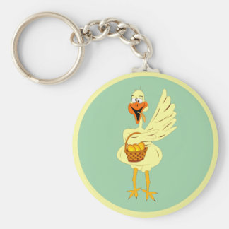 Funny Easter Goose Keychain