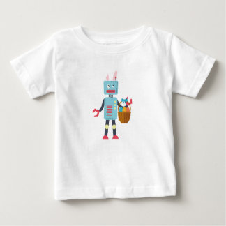 Funny Easter Robot Easter Bunny for Boys Girls Baby T-Shirt