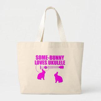 Funny Easter Ukulele Large Tote Bag