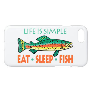 Funny Eat Sleep Fish iPhone 8/7 Case