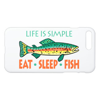 Funny Eat Sleep Fish iPhone 8 Plus/7 Plus Case