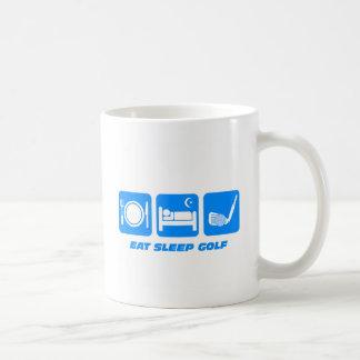 Funny eat sleep golf coffee mug
