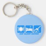 Funny eat sleep guitar key chains