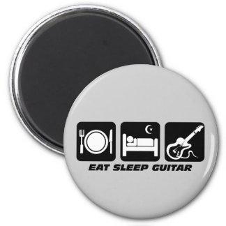 Funny eat sleep guitar magnet
