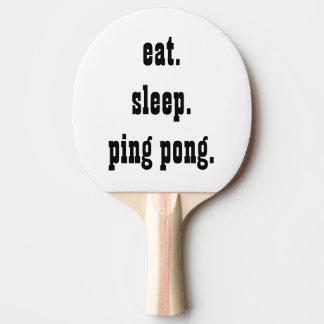 Funny eat sleep ping pong ping pong paddle