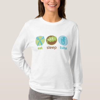 Funny Eat Sleep Tuba Womens L/S Tee
