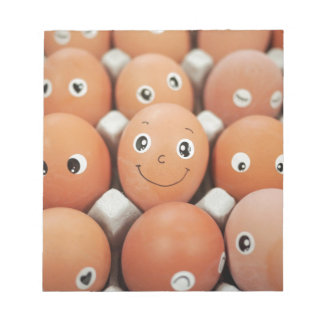 Funny Egg Faces - Breakfast Food Print Notepads