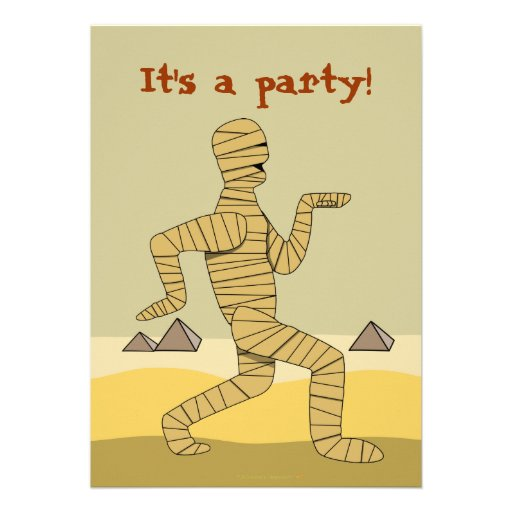 Funny Pictures About Egypt: Funny Egyptian Mummy Halloween Party Invitations