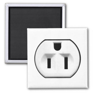 Funny Electrical Outlet | Gifts For Electricians Square Magnet