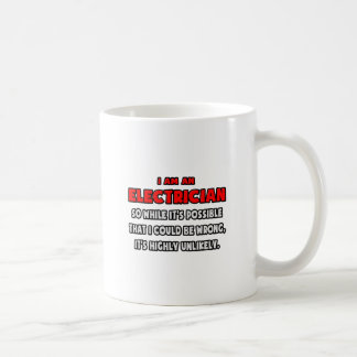 Funny Electrician .. Highly Unlikely Classic White Coffee Mug