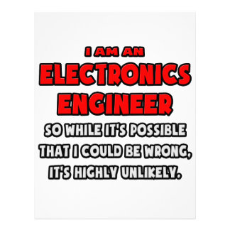 Funny Electronics Engineer Highly Unlikely Customized Letterhead