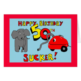 funny elephant 50th birthday card