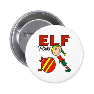 Funny Elf Christmas Gift 2 Inch Round Button