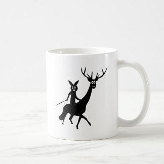 funny elk and bunny icon mug